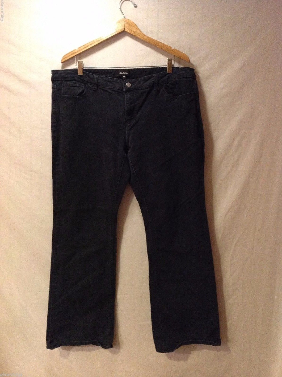 Daisy Fuentes Womens Black Denim Jeans, Size 18W