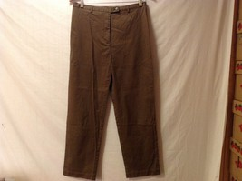 Modern Perspective Womens Olive Green Dress Pants, Size 12P