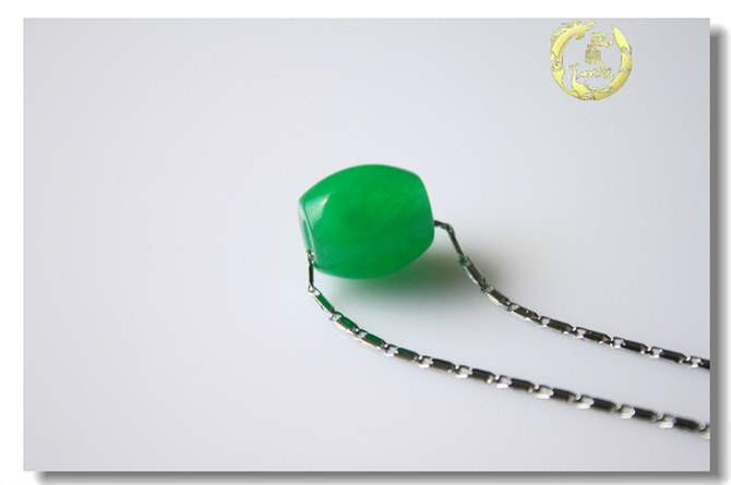 Free Shipping - Hand carved  Natural Green Jadeite Jade Ball charm Pendant / cho