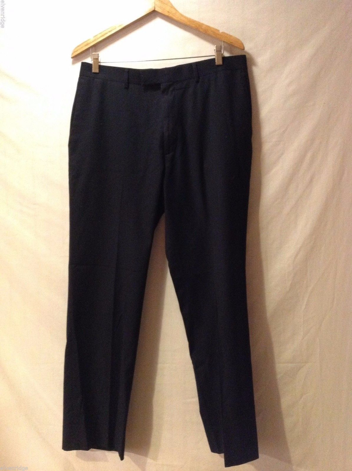 Perry Ellis Mens Black Dress Pants Size 34 32