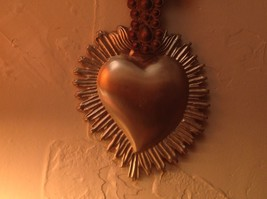 Silver plated Heart Milagro Ornament