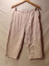 St. John's Bay Womens Light Khaki Capris, Size 12