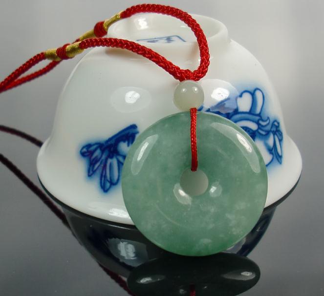 Free Shipping - Burma Green Jadeite Jade Button , perfect 100% Grade AAA Natural