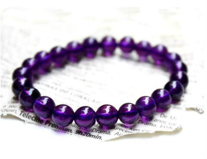 Free Shipping - Tibetan Buddhism natural Amethyst  / Purple Crystal / purple Qua