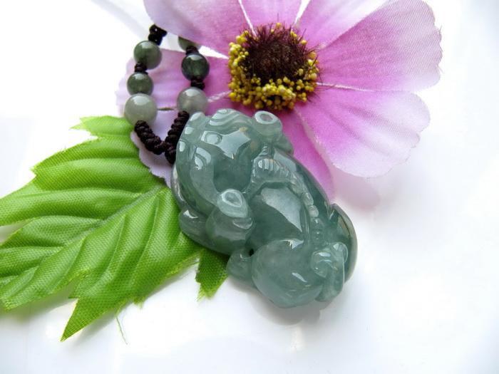 Free Shipping -100% AAA Natural dark Green jade carved Pi YAO  Burma Jadeite Jad