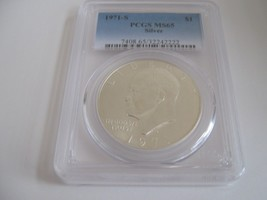 1971-S , Eisenhower Dollar , PCGS , MS 65 , Silver - $50.00
