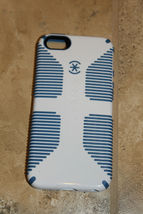 Speck Logo CandyShell Grip Case for iPhone 5 5S White/Blue Retail Package - $17.87