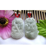 Free Shipping - A pair good luck Gift  Hand - carved dragon Phoenix Natu... - $30.00