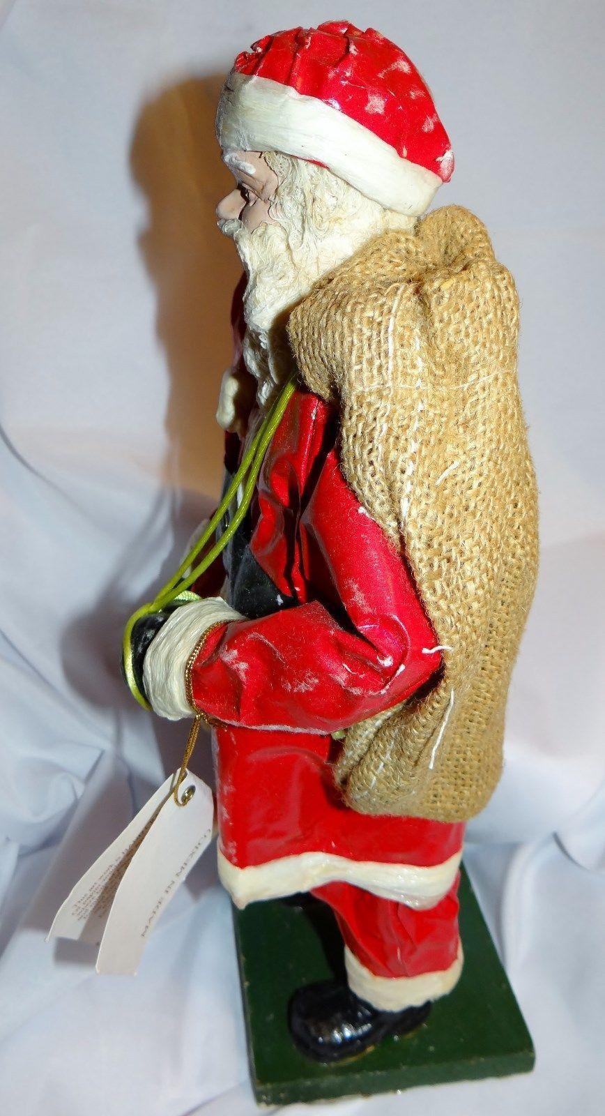 Vintage paper mache santa claus christmas figurine for Paper mache christmas