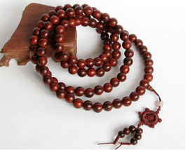 Free Shipping - 8mm Tibetan Natural Red sandalwood  meditation yoga 108 Prayer B - $30.00