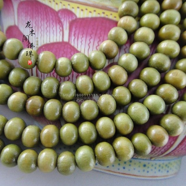 Free Shipping - 6mm Tibetan Natural Green sandalwood Mala meditation yoga 108  B