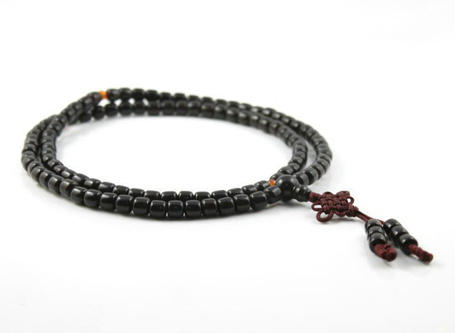 Free Shipping - 100% Natural black sandalwood  meditation yoga 108 Prayer Beads