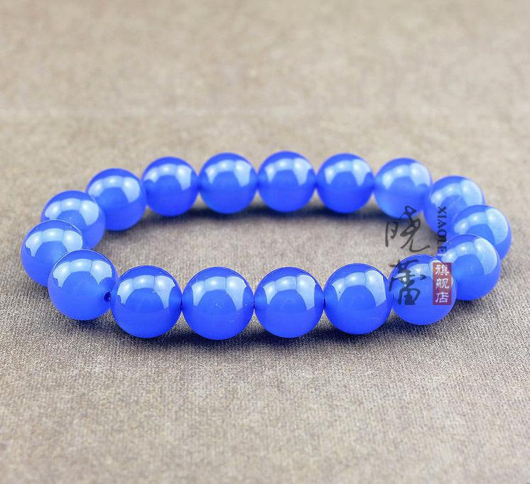 Free Shipping - AAA Natural Sea blue jade beads Meditation Yoga Prayer Beads cha