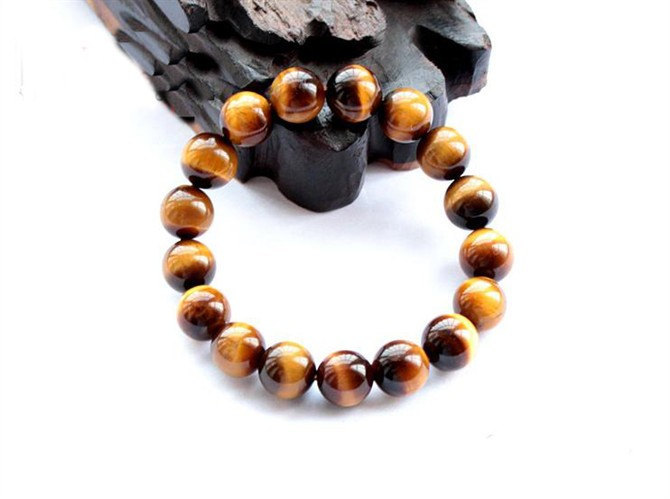 Free Shipping - perfect Natural Yellow  tiger eye STONE Prayer Beads charm brace