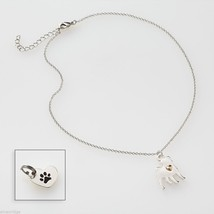 Pug   Necklace w gold heart w charm for your dog's collar SET image 2