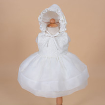 New Baby Christening Party Dress with Bonnet in... - $26.41