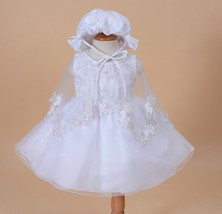 New Baby Christening Party Dress,Cape,Bonnet in... - $32.48