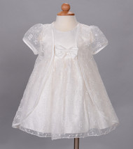 New Baby Christening Wedding Party Dress and Cape White Ivory 3 6 9 12 1... - $35.52