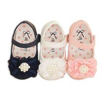 New Baby Girls Christening Shoes in White, Pink,Dark Blue 3 6 9 12 15 18 Months - $14.54