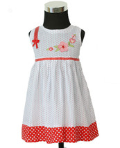 New Baby Girls white and Red Dotted Cotton Party Dress in 0-3,3-6,6-9 Months - $6.95