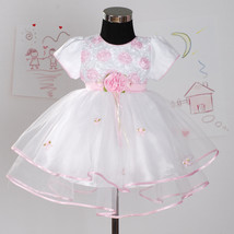 New Christening Wedding Party Pageant Dress in Pink,White,Lilac 0-18 Months - $24.00