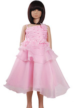 New Flower Girl Party Bridesmaid Pageant Dress In Ivory,Pink,H Pink 2-6 ... - $22.74