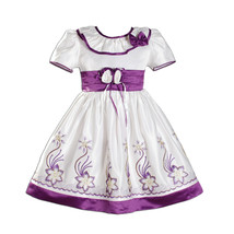 New Flower Girl Party Bridesmaid Dress in Purple Hot Pink Blue 9 12 18 2... - $22.95