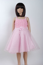 New Flower Girl Party Bridesmaid Pageant Dress in Pink,White 12-18M to 3... - $15.66