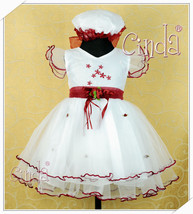 New Girls Christening Wedding PartyPageant Dress+Bonnet - $24.00