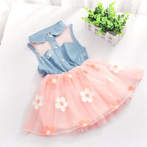 New Girls Party Dress in Pink White 12-18 18-24... - $10.74