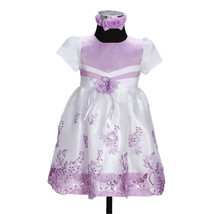 New Girls Party Flower Girl Dress with Headband... - $17.99