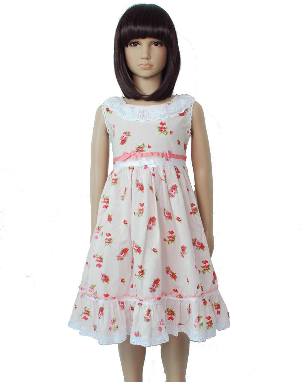 b3c53eeb082e3 New Girls Pink Floral Cotton Party Dress and 50 similar items