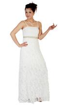 New Ivory Wedding Evening Dress with Shawl Size 8-16,EU38-46,US6-14 STOCK - $266.32