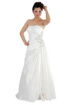 New Ivory Satin Wedding Dress Gown UK Size 6-14,EU36-44,US4-12 uk STOCK - $83.30