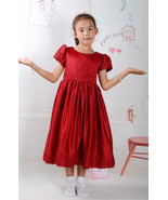 New Satin Holy Communion Flower Girl Party Bridesmaid Dress - $30.32