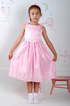 New Satin Flower Girl Party Bridesmaid Wedding Pageant Dress 18 Month to 5 Years image 1