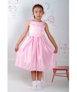 New Satin Flower Girl Party Bridesmaid Wedding Pageant Dress 18 Month to... - $21.67