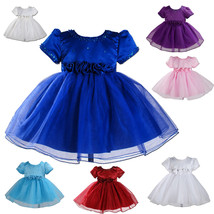 New Party Bridesmaid Flower Girl Dress available in 7 Colours 6 months t... - $25.27