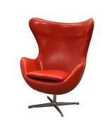 Fabulous Modern Lipstick Red  Leather  Swivel Egg  Rocker Chair,43.25''H. - $985.05