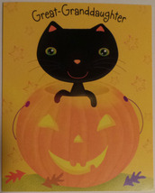"Greeting Halloween Card Great-Granddaughter ""Hope you have a Treat-filled"" - $1.50"