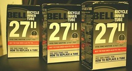 """(3) Bell 27"""" x 1 1/8 - 1 1/4 Standard Valve Bicycle Inner Tubes also fi... - $20.78"""