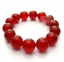 Free Shipping - AAA Natural Red  agate / carnelian Prayer Beads charm bracelet - $25.99