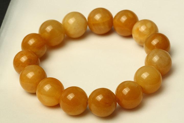 Free Shipping -  12 mm  Grade AAA Natural Yellow jadeite Jade Meditation yoga Ro