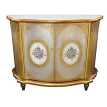 Beautiful Silver&Gold Painted Floral Cabinet ,4... - $890.01
