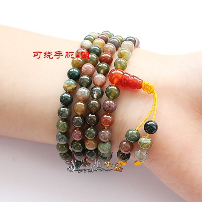Free shipping - Tibetan genuine Natural Bloodstone Meditation Yoga 108 beads Pra
