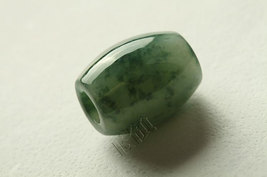 Free Shipping - Hand carved  Natural dark tea Green Jadeite Jade Ball charm Pend - $30.00