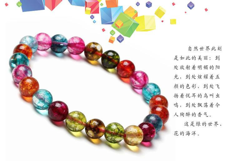 Free Shipping -  perfect Tibetan natural Colorful crystal / quartz  Meditation Y