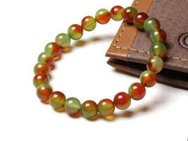 Free Shipping -  perfect Tibetan natural Red green agate / Colorful agate  Medit - $20.00