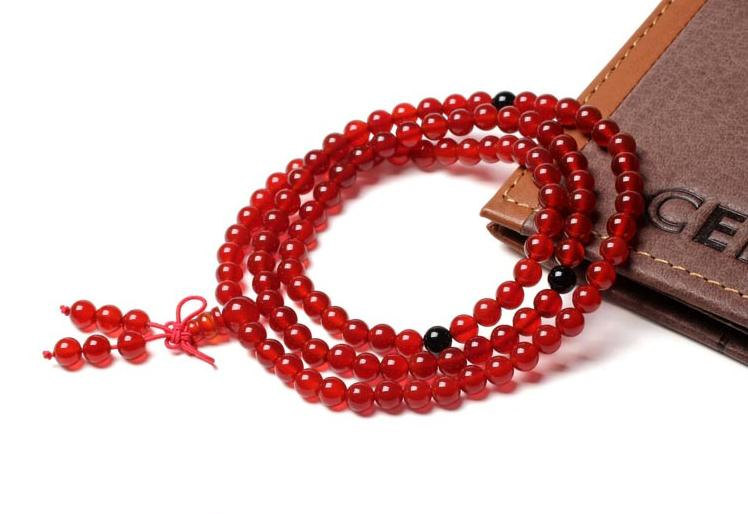 Free shipping -  Natural red jade Meditation Yoga 108 beads prayer Mala