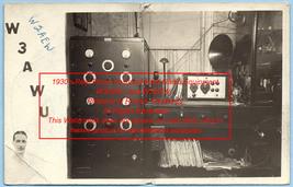 1930's Undated Vintage Photo Postcard QSL Card old Ham Radio Equipment - $49.99